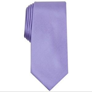 New Alfani Mens Silk Blend Solid Neck Tie